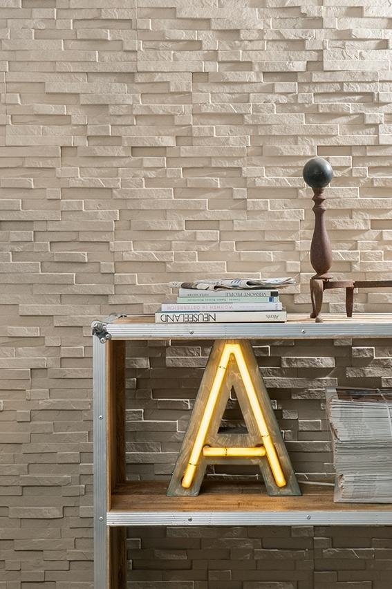 Wandpaneele in Steinoptik mit 3D Effekt