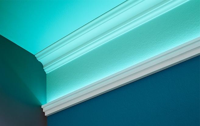 Lichtleisten schaffen indirekte Beleuchtung in Ihr Zuhause